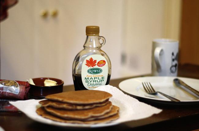 recipe whole wheat walnut pancakes