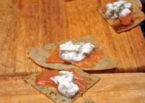 herbed crepes recipe creme fraiche salmon