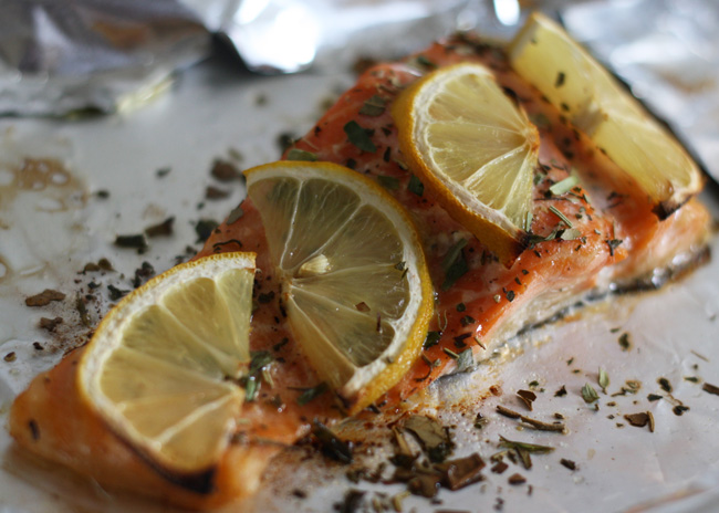 roasted trout with herbes de provence