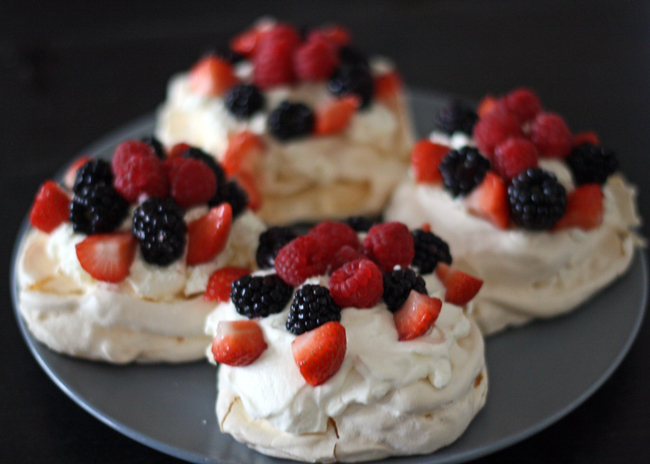 meringues and cream