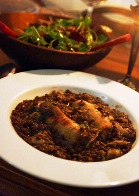 lentil and sausage cassoulet