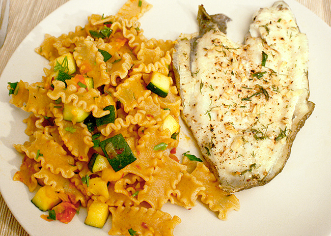 dover sole with pasta recipe