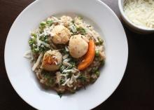 scallops mushroom risotto recipe