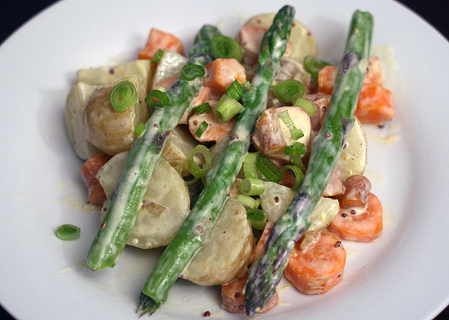 asparagus and potato salad