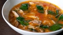 chicken tomato soup with lemon recipe