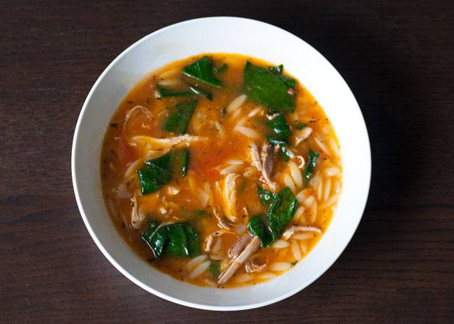 chicken and tomato soup with lemon
