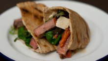 steak pita pockets
